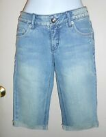 Limited Too Girls Super Low Denim Capri Jeans Blue 14r