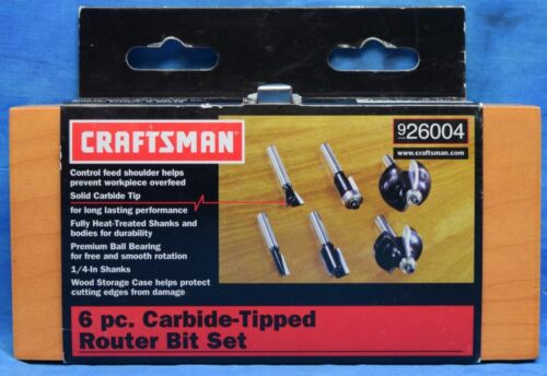 Craftsman 6 Piece Carbide-Tipped Router Bit Set