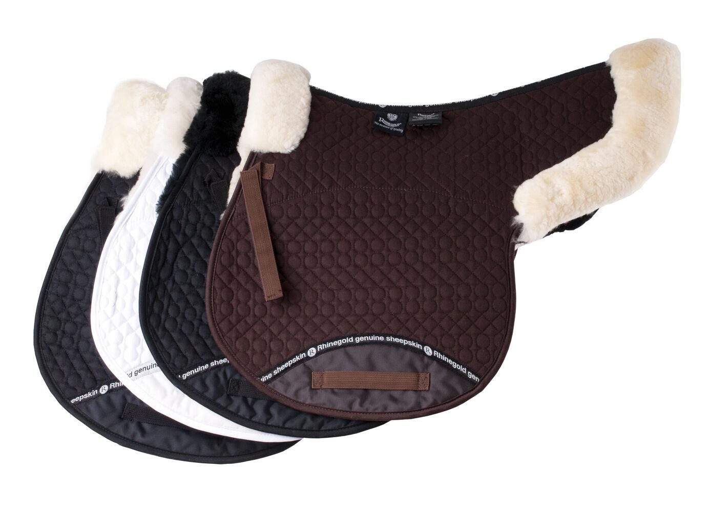 Qualità Rhineoro Reale Pelle Di Pecora Foderato cavallo o Pony evento SOTTOSELLA