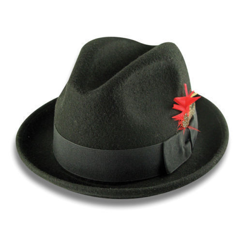 Men /'s 100/% Wool Fedoal Fashion Trilby Mobest Hat Style LH--1 Size:S M L XL