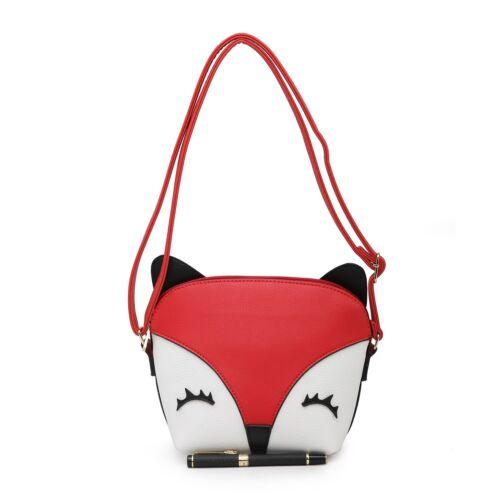 New Women/'s Girls Cute 3 D Fox Face Small Messenger Bag//Cross Body//Shoulder Bag