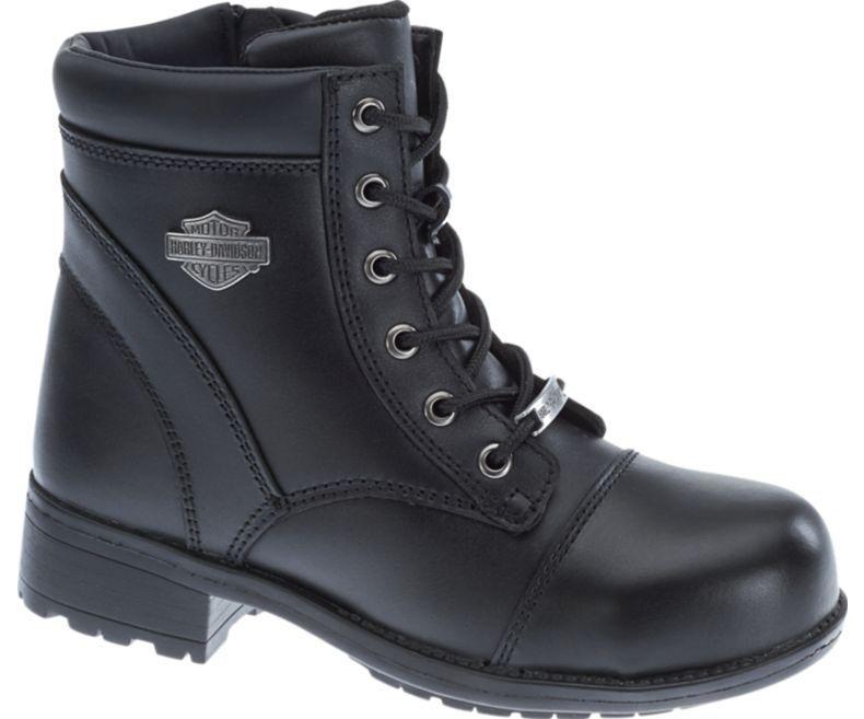 Harley-davidson Para Mujer Botas De Cuero Negro Raine Puntera Puntera Raine De Acero D83883 f46593