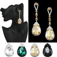 Yellow Chandelier Drop Earrings Yellow Pageant Earrings Crystal Wedding Earrings