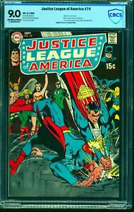 Justice-League-Of-America-74-CBCS-VF-NM-9-0-Off-White-to-White-DC-Comics