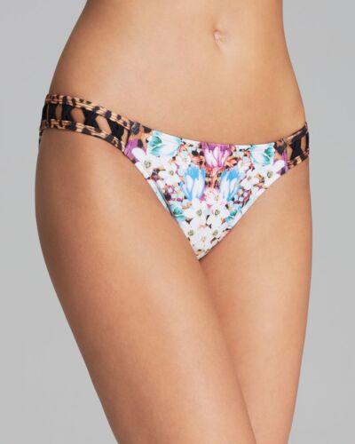 MINKPINK Multicolor Animal Fleur Criss Cross Bikini Bottom K-76