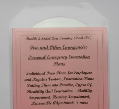 2019 Fire Safety PERSONAL EMERGENCY EVACUATION PLANS Training Course Resource CD