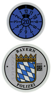 German-Police-License-Plate-Registration-Seal-and-Inspection-Sticker