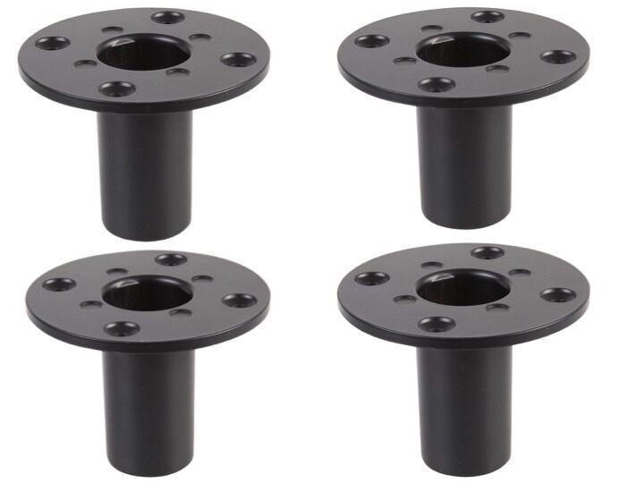 4 x Pulse 35mm metal internal speaker top hat tophat speaker stand pole mount