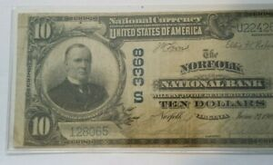 Norfolk-Virginia-1902-10-Plain-Back-National-Bank-Note-Charter-3368