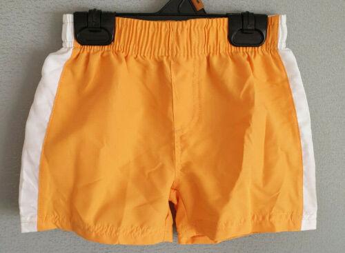 BNWT Boys Sz 2 Kmart H+T Brand Orange White Stripe Microfibre Swim Board Shorts