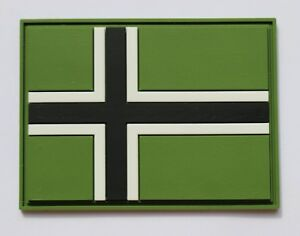 Vinnland-flag-cross-PVC-patch-with-contact-tape-hook-loop