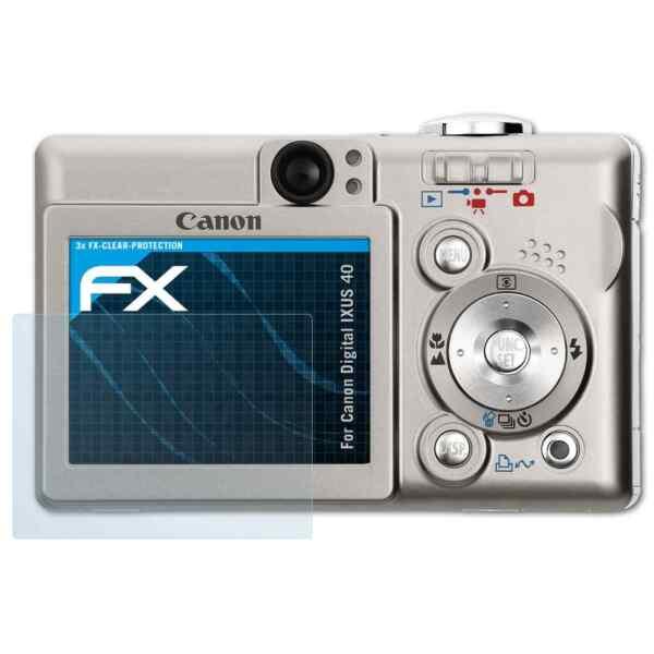 Ambitieux Atfolix 3x Protecteur D'écran Pour Canon Digital Ixus 40 Fx-clear