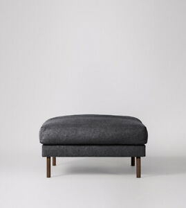 Swoon Munich Living Room Stylish Anthracite MTO Smart Wool Ottoman - RRP £399