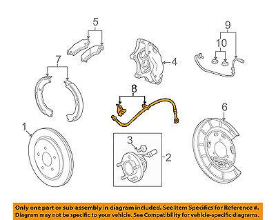 ACDelco 176-1863 GM Original Equipment Rear Brake Hose Assembly