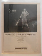 1981 Print Ad Roche-Bobois Furniture Couch ~ Truly Savage Woman Warrior Sword