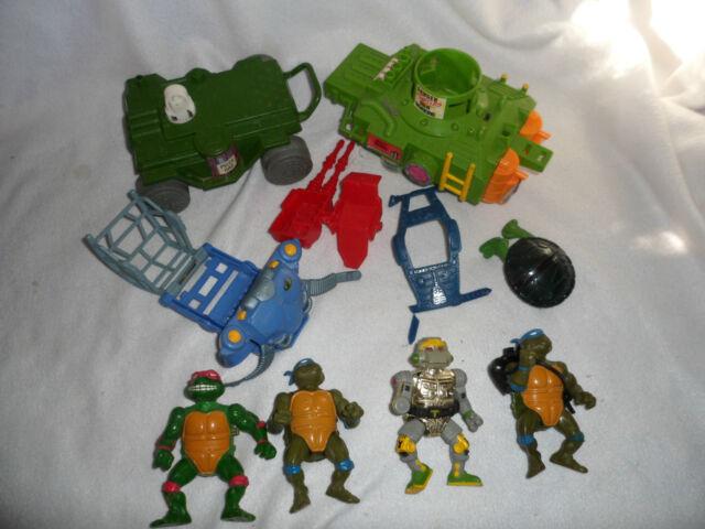 Vintage 1989 TMNT Tennage Mutant Ninja Turtles Mixed Lot Mirage Playmate Vehicle