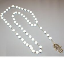 ROSARIO Collar collar Jamsa KAMSA 78cm NUEVE BLANCO