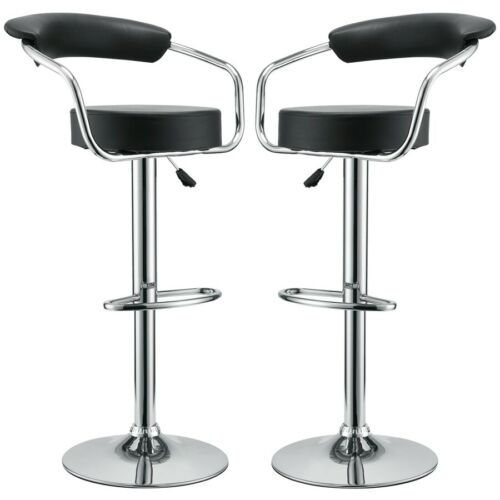 Modway Furniture Diner Bar Stool Set of 2, Black - EEI-930-BLK