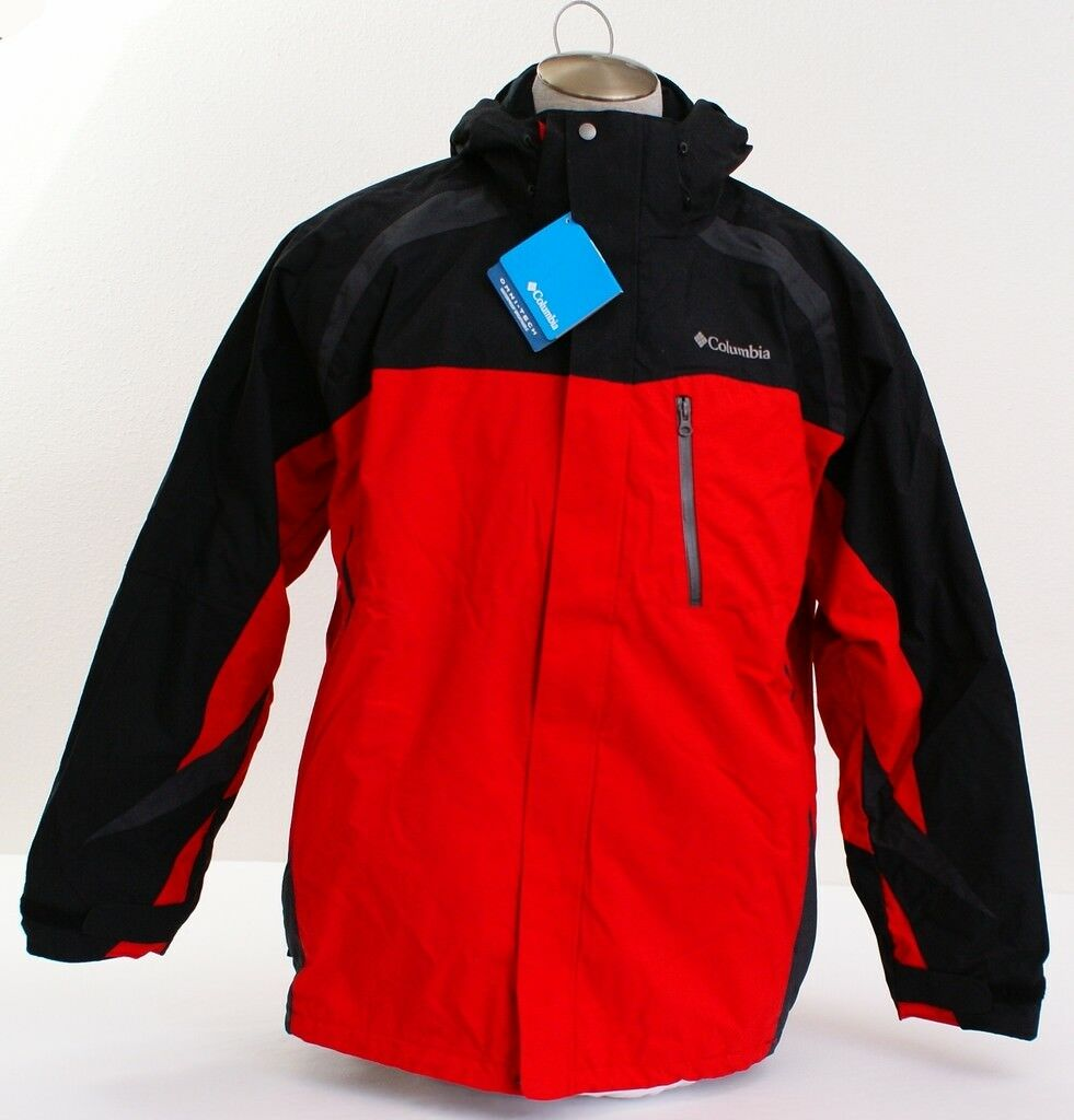 Columbia 3-in-1 Red Conundrum Valley Omni Tech Hooded Parka Men's 2XL NWT
