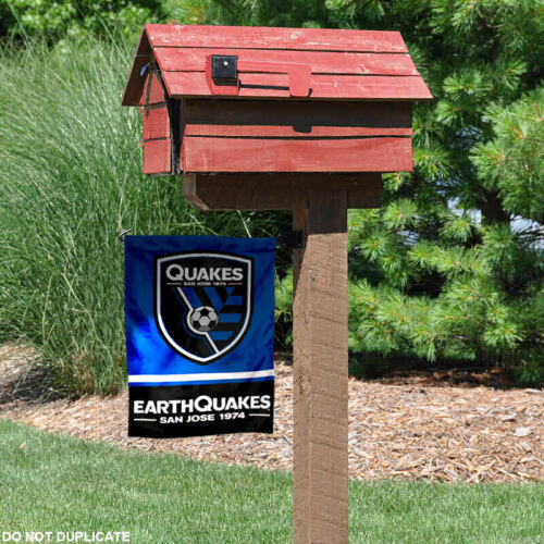 San Jose Earthquakes Two Sided Garden Flag and Yard Banner