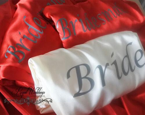 Wedding robes Bride Bridesmaid Robes Bridal Dressing Gowns Wedding Satin Robes