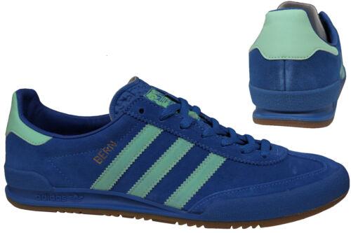 Adidas Originals Jeans City Series Bern Mens Blue GreenTrainers Suede BB5275 U88