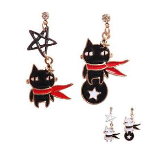 Cat-Drop-Earrings-Star-Creative-For-Girls-Enamel-Earrings-Jewelry-Accessories