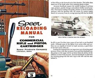 Speer 1959 Reloading Manual No  3 for Commercial Cartridges | eBay