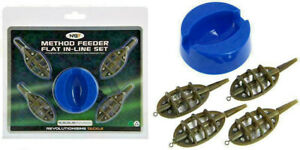 4-X-INLINE-METHOD-FEEDERS-AND-1-X-MOULD-SET-FOR-NGT-CARP-FISHING-TACKLE