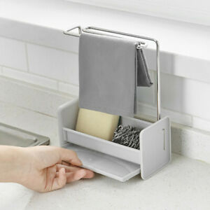 Kitchen-Gadget-Towel-Storage-Rack-Free-Punching-Kitchen-Sink-Sponge-Dry-Rack