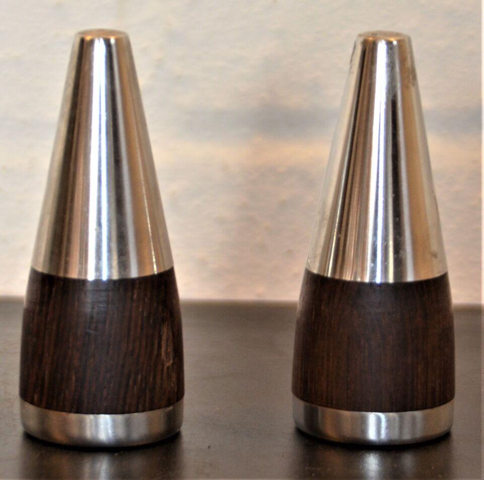Rustfrit stål, Salt og pebersæt - design, rustfri top samt