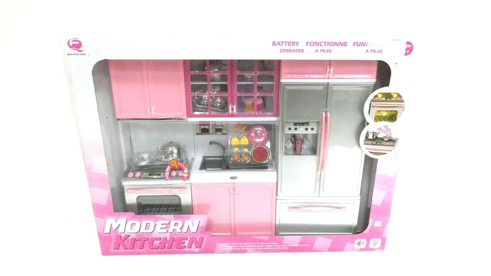 26211p Doll Playsets Deluxe Modern Kitchen Battery Operated Toy Playset For Use With 074278189231 For Sale Online Ebay