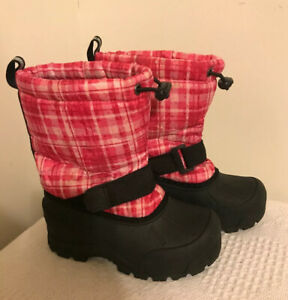 Kids 11 Pink Plaid ~ Cold Gear Shoes