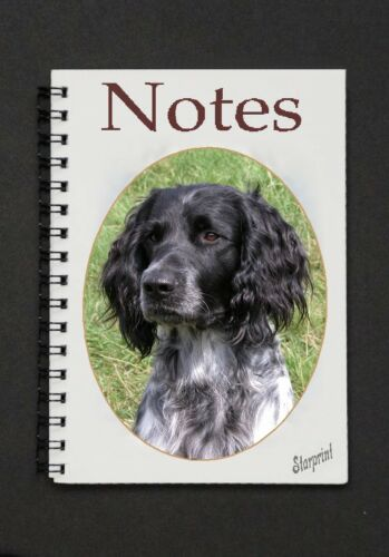 Large Munsterlander Dog Notebook//Notepad with a small image on every page