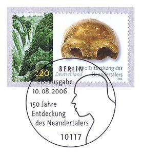 Courageux Rfa 2006: Néandertal Nº 2553 Avec Le Berliner Ersttags-cachet Spécial! 1a-rstempel! 1afr-fr Afficher Le Titre D'origine Excellent Effet De Coussin