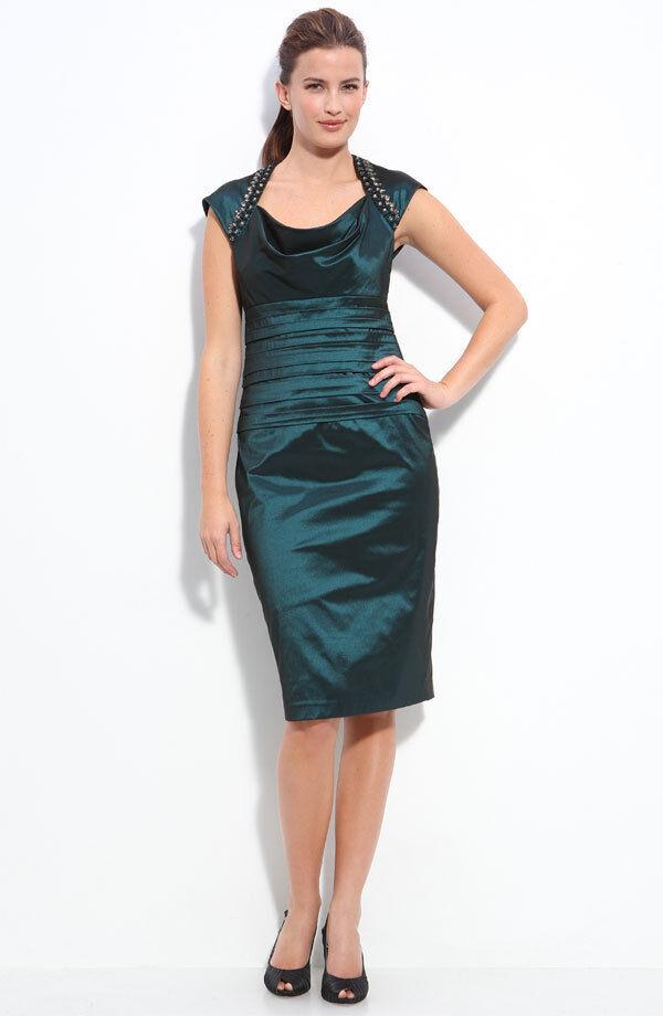 Maggy London Beaded Taffeta Sheath Dress  ( size size size 4) 6c15fe