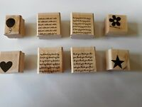 - Stampin Up - Two-step Stampin' Mini Messages - Set Of 8 - 2004