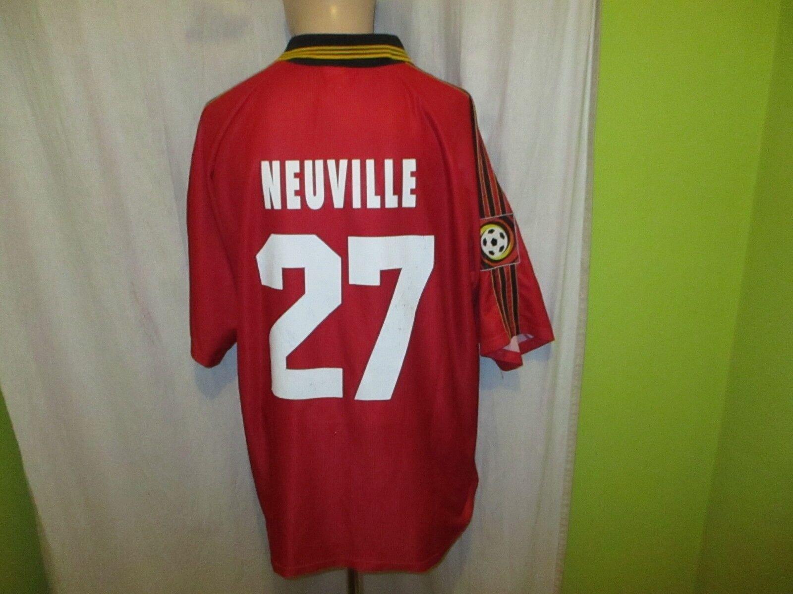 Bayer 04 Leverkusen Adidas Home Jersey 1998 99  Aspirin  + No 27 Neuville Größe XL