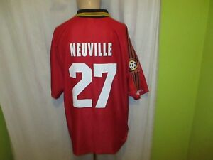 Bayer-04-Leverkusen-Adidas-Heim-Trikot-1998-99-034-ASPIRIN-034-Nr-27-Neuville-Gr-XL