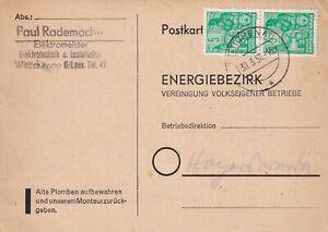 Heimatbeleg-Wittichenau-30-3-57-Oberlausitz-Paul-Rademacher-Elektromeister