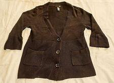 Cardigan donna, H & M, taglia L, nero, tessuto misto