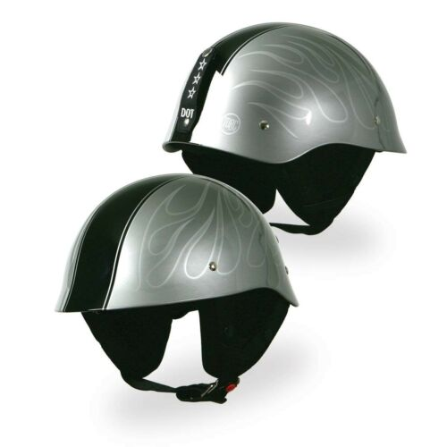 TORC T-54 GI Open Face Low Profile Motorcycle Scooter Helmet Ghost Flame Gray