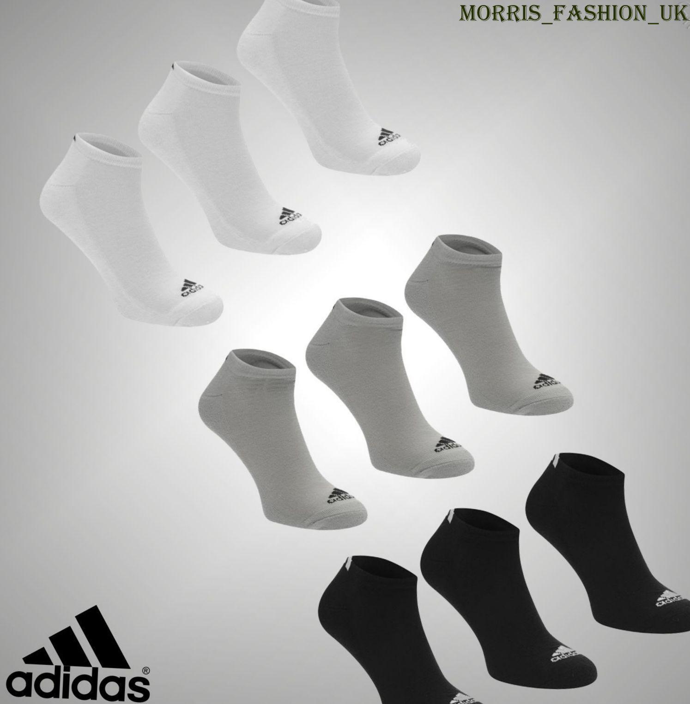 3er-Pack Adidas Sports Low Cut Trainer-Socken für Herren, Größe 5-14