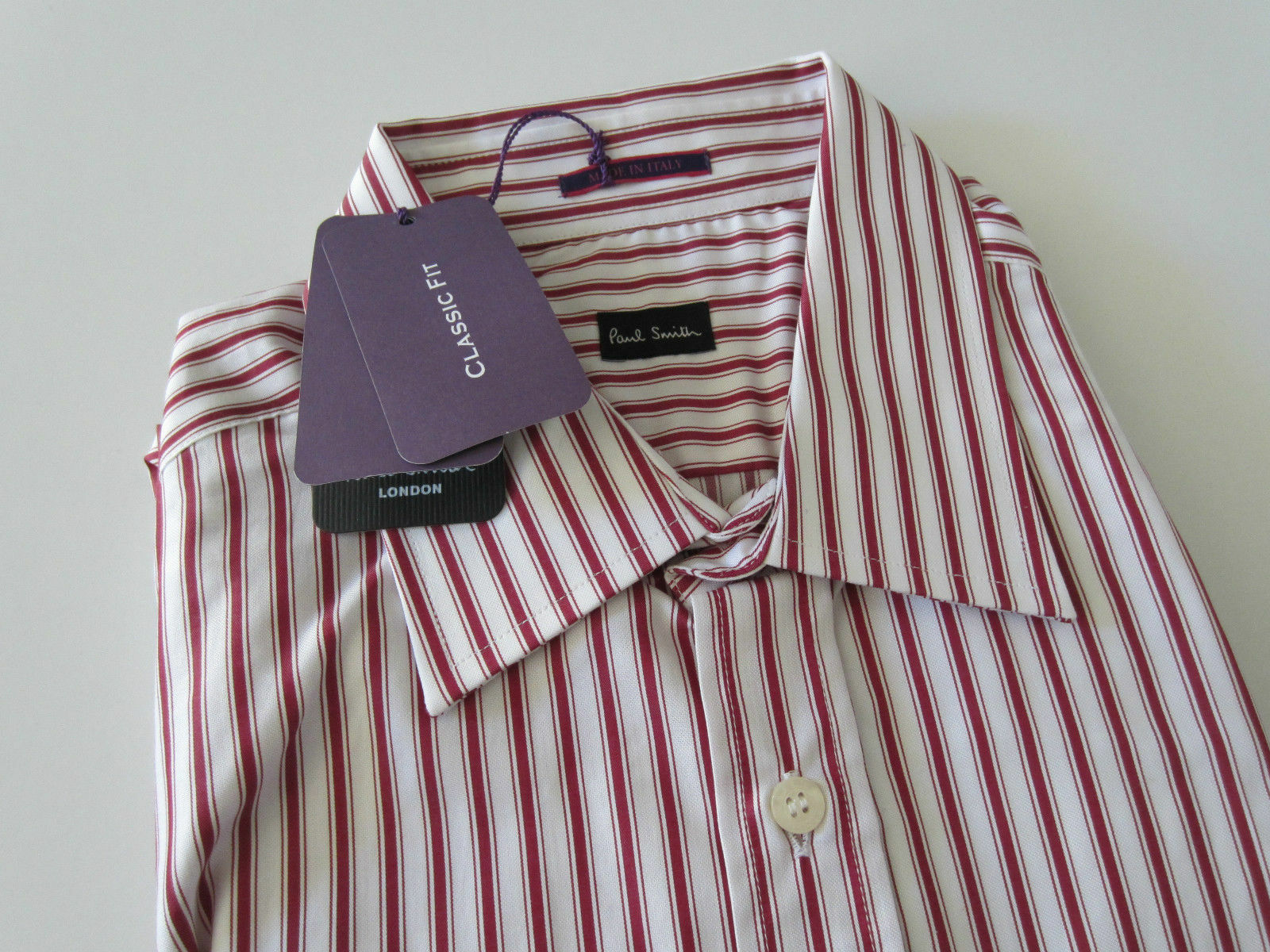 Paul Smith Formal LS Classic  Shirt  - Size 16.5   42  - p2p 22.5  - BNWT