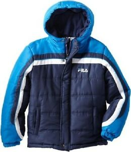 00f0a86f0f5 Image is loading Fila-Big-Boys-039-Colorblock-Puffer-Coat-Medieval-