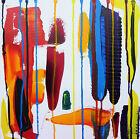 Original Abstract Acrylic Painting Canvas Artwork Palette Knife Art Warren Green