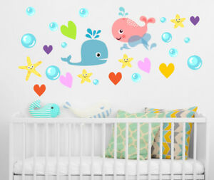 Image Is Loading Ocean Wall Decal Under The Sea Decal Whale