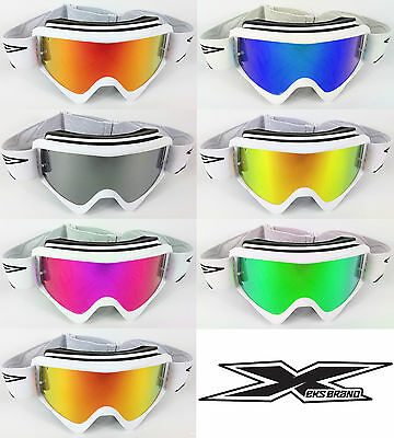 EKS BRAND GOX REPLACEMENT GOGGLE-SHOP MOTOCROSS MX GOGGLE CHROME MIRROR LENS