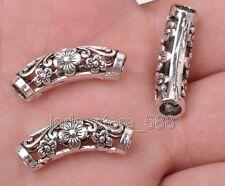 10pcs Tibetan silver circular curved (spend) hollow beads gasket  25MM