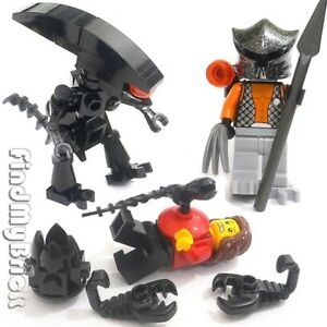 Lego-Custom-Alien-vs-Predator-Human-Minifigures-Egg-Huggers-amp-Chestburster-NEW